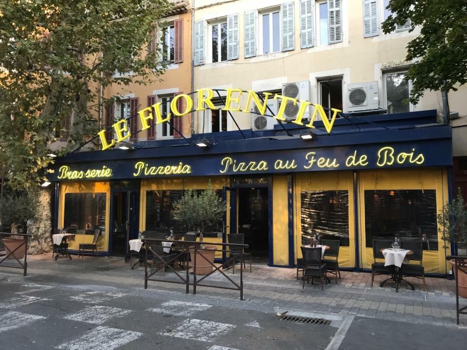 devanture le Florentin pizzeria et restaurant Aubagne